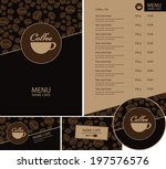 Coffee business card free vector art 28468 free downloads no open set for the cafe menu business cards and coasters for drinks colourmoves