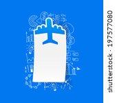 drawing business formulas  plane   Shutterstock .eps vector #197577080