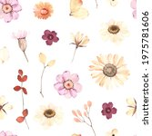 watercolor floral seamless... | Shutterstock . vector #1975781606