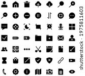 user interface icon set solid...