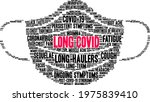 long covid word cloud on a...   Shutterstock .eps vector #1975839410