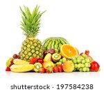 assortment of exotic fruits... | Shutterstock . vector #197584238