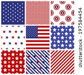 set of seamless patterns in... | Shutterstock .eps vector #197584454