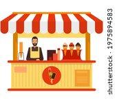 ice cream booth cart vector...   Shutterstock .eps vector #1975894583