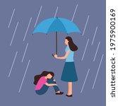 woman comforting depressed... | Shutterstock .eps vector #1975900169