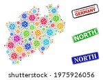vector covid collage north...   Shutterstock .eps vector #1975926056