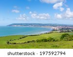 isle of wight coast view... | Shutterstock . vector #197592794