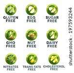food diet icon collection set ... | Shutterstock .eps vector #197593244