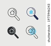 house search vector icon...