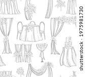 hand drawn wedding set. flowers ... | Shutterstock .eps vector #1975981730