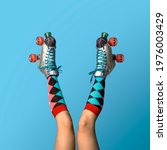 Legs In A Roller Skates Shoes...