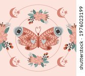 magical luna butterfly bloomy...   Shutterstock .eps vector #1976023199