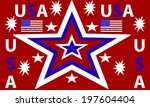 a stars and stripes u.s.a.... | Shutterstock . vector #197604404