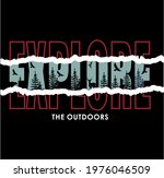 explore the outdoors  vintage t ... | Shutterstock .eps vector #1976046509
