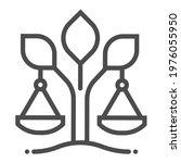 environmental law square line... | Shutterstock .eps vector #1976055950