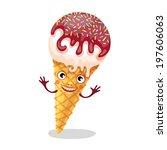 the funny ice cream. vector...   Shutterstock .eps vector #197606063