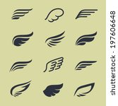 Wings Icons Vector Set