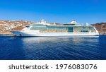Cruise Ship Near The Mykonos...