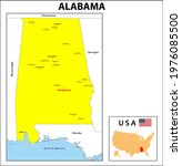 alabama map. state and district ... | Shutterstock .eps vector #1976085500
