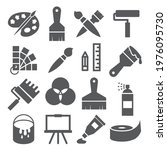 painting and drawing icons on...   Shutterstock . vector #1976095730