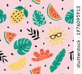 summer seamless pattern. summer ...   Shutterstock . vector #1976095913