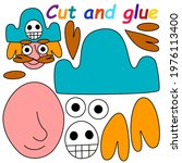 cut and glue pirate stock... | Shutterstock .eps vector #1976113400
