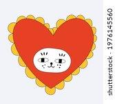 Kitten In A Heart Shape Costume....