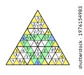 triangle sudoku colorful game... | Shutterstock .eps vector #1976154983