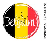 Belgium Flag  Banner With...
