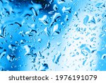 Rain Window Background. Water...