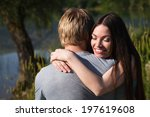 young couple relaxing near the... | Shutterstock . vector #197619608
