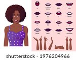 mouth animation and lip sync... | Shutterstock .eps vector #1976204966