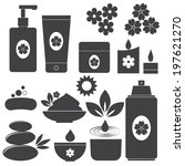 set of spa icons on white... | Shutterstock .eps vector #197621270