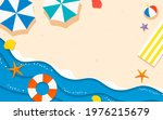 summer beach paper art style... | Shutterstock .eps vector #1976215679