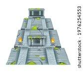 maya pyramid  vector aztec... | Shutterstock .eps vector #1976254553