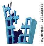 destroyed building after... | Shutterstock .eps vector #1976268683