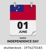 independence day samoa   june 1 ... | Shutterstock .eps vector #1976270183