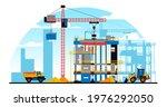 a building under construction... | Shutterstock .eps vector #1976292050
