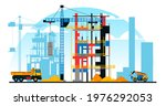a building under construction... | Shutterstock .eps vector #1976292053
