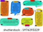 quote box frame set. text... | Shutterstock .eps vector #1976293229
