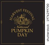 emblem of vegetable pumpkins...   Shutterstock .eps vector #1976299700