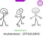 stick men  stick figures ... | Shutterstock .eps vector #1976312843