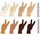 collection of human ethnic... | Shutterstock .eps vector #1976312846