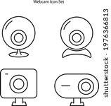 webcam icons set isolated on...