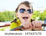 emotional girl in sunglasses in ...   Shutterstock . vector #197637170