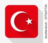 simple flat icon turkey flag....