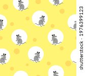 seamless cheese pattern with...   Shutterstock .eps vector #1976399123