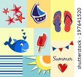vector summer poster cards | Shutterstock .eps vector #197641520