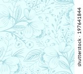 vector floral seamless pattern | Shutterstock .eps vector #197641844