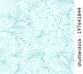 vector floral seamless pattern | Shutterstock .eps vector #197641844
